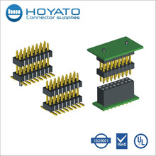Great quality 1.27mm dual row straight type pin header with UL CE FCC certificated