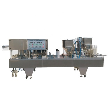 Fully automatic cup filling machine for heat sealer cup form fill seal machine sealing machine for plastic cup