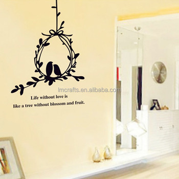 Olive Branch And Birds Wall Decals Stickers Love Quotes Furniture ...