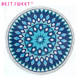 wholesale printed custom microfiber and cotton round circular beach towel