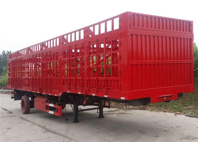 2017 High quality 3 axle fence cargo trailer for hot sale