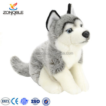 Cuddly Stuffed Animal Soft Snow Dog Custom Cute Stuffed Husky