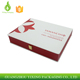 White leather gift packaging large size MDF board boxes for packing