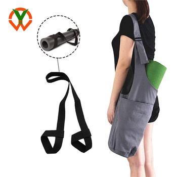 Long Strap Yoga Mat Carrier with Side Pocket And Zipper Pocket