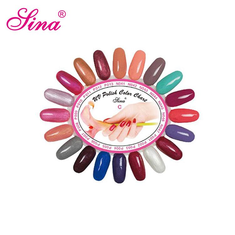 20 Tips Round Wheel Plastic Nail Polish Color Display Chart