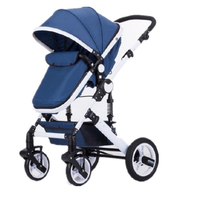 CE Approved Shock-absorbing Rubber Wheel Quick Installation Luxury High Landscape Baby Stroller