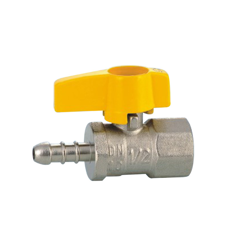 1/2 inch yellow handle mini ball valve for <strong>gas</strong>