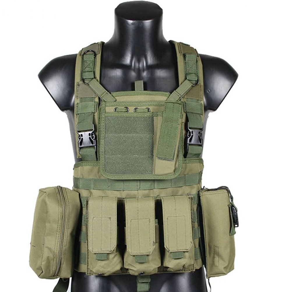 1c438395b6e72 Get Quotations · OSdream RRV Army Green Reconnaissance and Tactical Vest/Military  Hunting Vest/Outdoor Protection Vest
