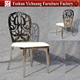 YC-SS33-1Event design royal princess hollow out silver wedding stainless steel chair