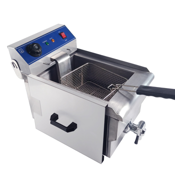 Stainless steel low wattage commercial electric deep fryer 10L for chicken chips