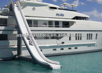 Long Yacht Inflatable Water Slide, Ocean Inflatable Water Slide For Yacht