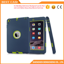 Safe Armor Shockproof case for iPad mini 1/2/3 Retina Heavy Duty Silicone Hard Case