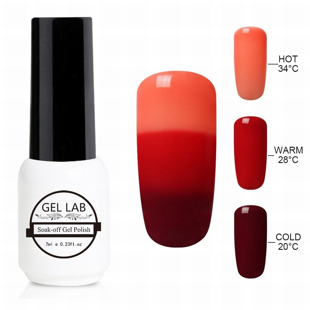GEL LAB 7ml Chameleon 3 Way Tri-Color Temperature Changing Color Nail Lacquers Soak Off UV LED Gel Polish TC4203