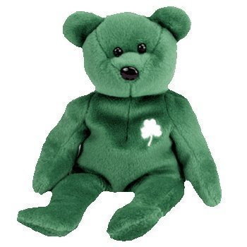 7a765f92ed1 Get Quotations · Erin the Irish Bear - Ty Beanie Baby by TY Warner Disney