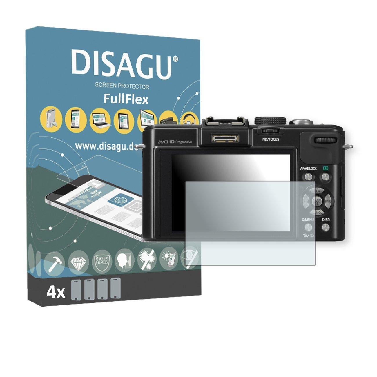 4 x Disagu FullFlex screen protector for Panasonic Lumix-DMC LX7 foil screen protector