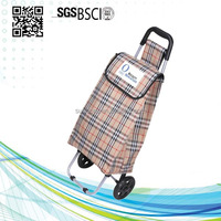 Professional Foldable Grocery Food trolley cart