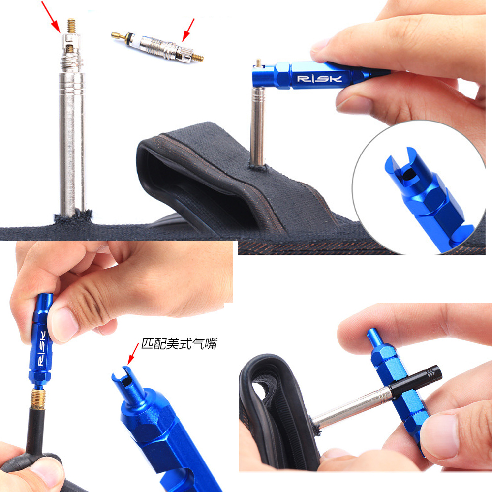 tubeless bicycle tire valve presta valve core removal tool