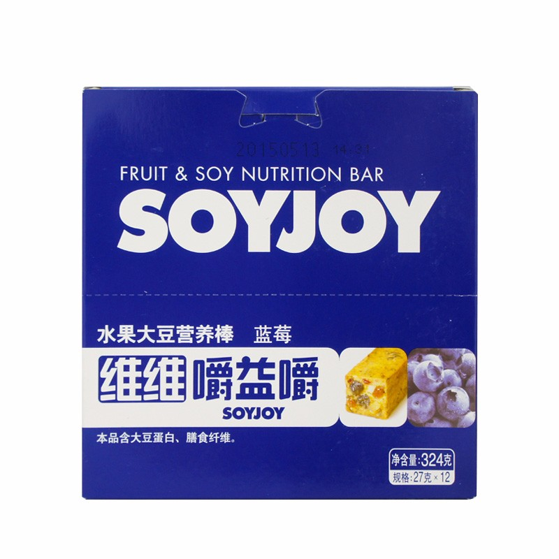 Health food Low GI Low Fat SOYJOY Blueberry Fruit Soybean energy Bar