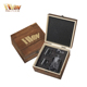 Whiskey Decanter With Twist Whiskey Glasses Set of 3 in Hand Crafted Wooden Box