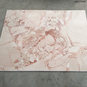 Chinese Beige Marble Pink Cream Marble Wall Tiles Hotel Project