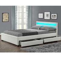 Modern European Designs Double Storage Bed King Queen Size With Drawer