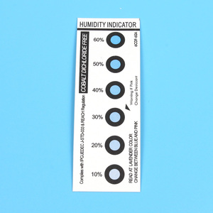 humidity indicators are used in conjunction with a desiccant and a moisture barrier bag to solve moisture problem