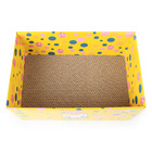 Spot Wholesale Pet Bed Yellow Corrugated Cat Nest Density Wearable Cat Carton