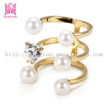 Flower Pearl Gold Italian Ring Designs Buy Gold Ring Designs