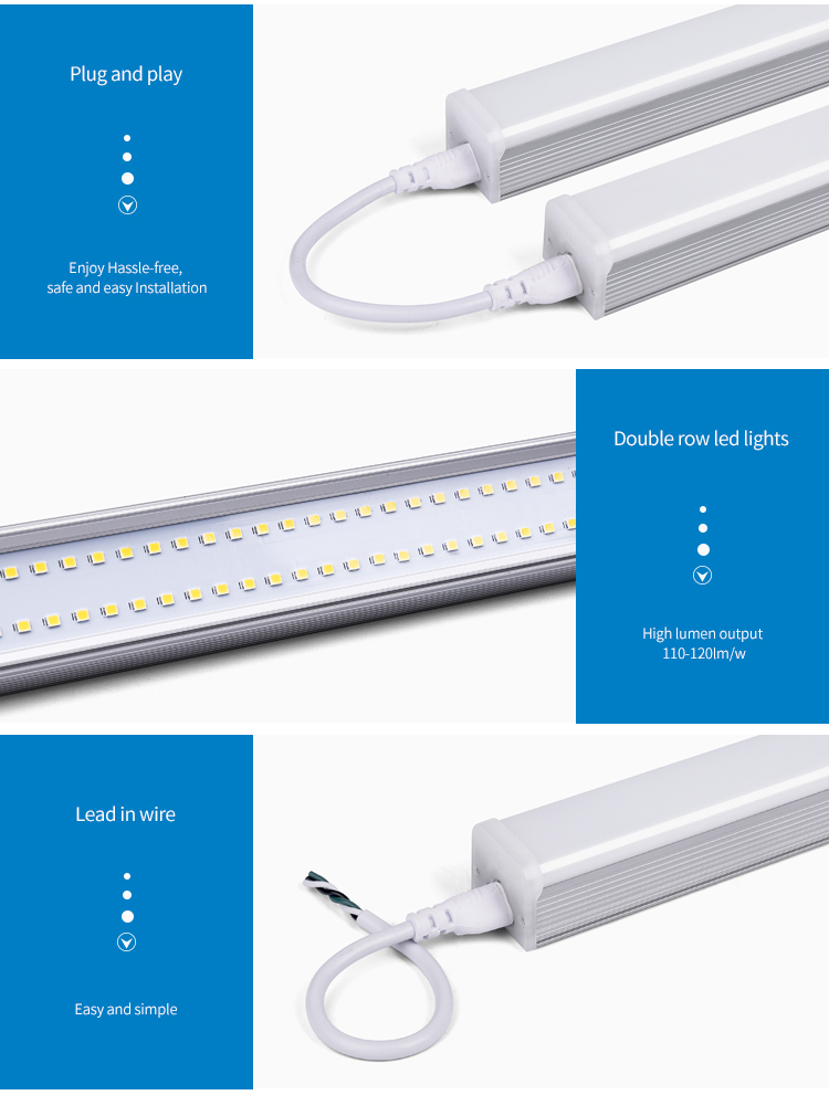 Professional led factory with good price t5 t8 led fixture batten light