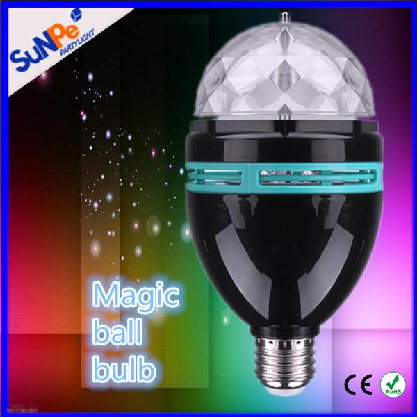 E27 E26 B22 Led Light Bulb Color Changing Multicolor Self-rotating ...