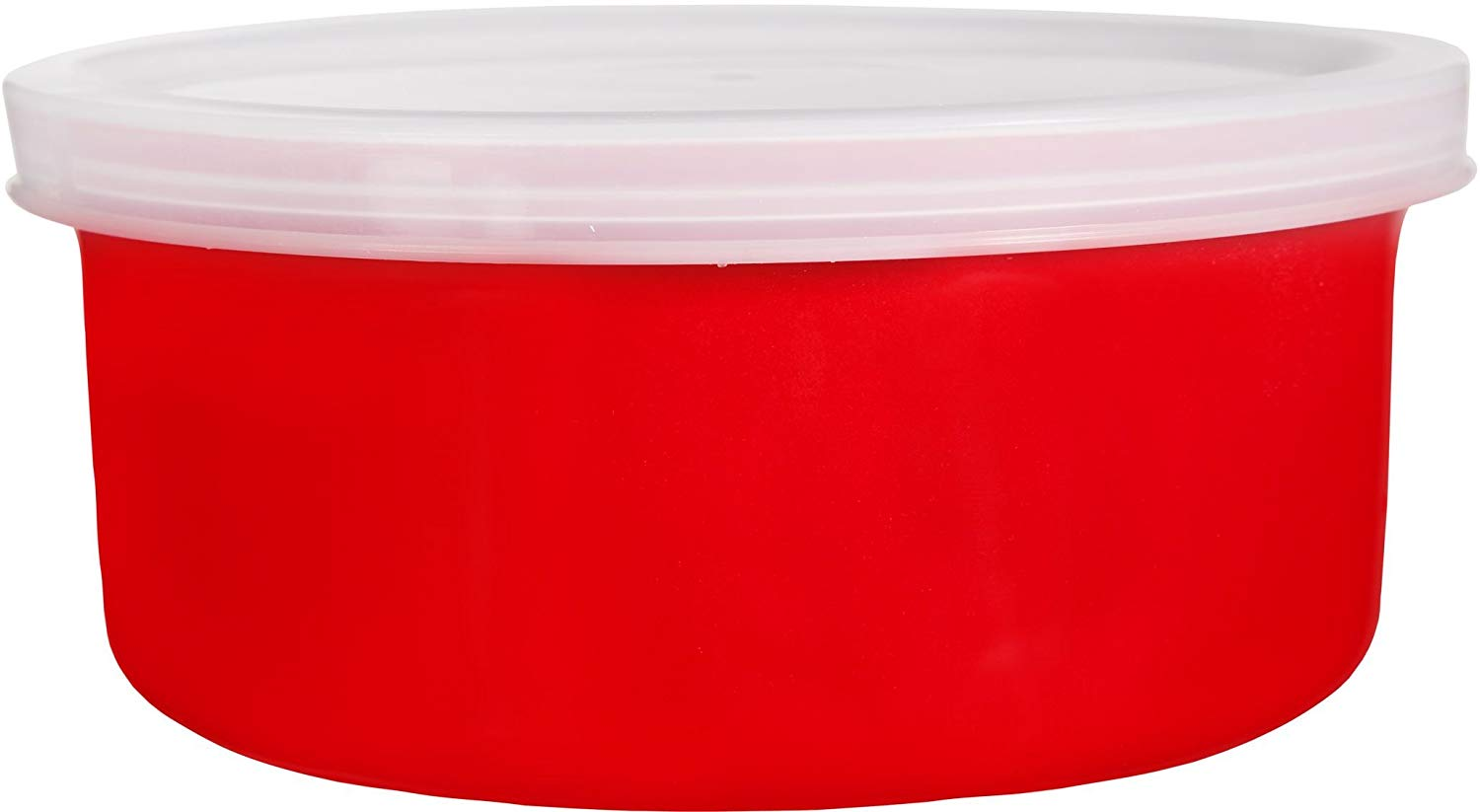 Home Essentials & Beyond 1 Round Ceramic Casserole Baker with Lid Baking Dish Roasting Lasagna Pan Red 16 Oz