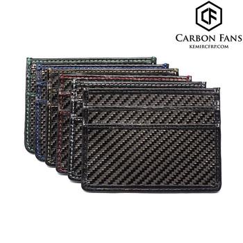 3145b6a841b RFID blokkeren Echte carbon credit bank kaarthouder portemonnee voor  visitekaartjes, VIP kaarten