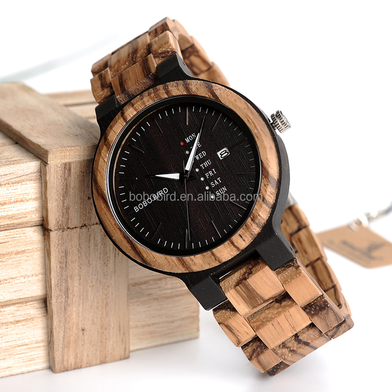 wooden bobobird dial brand green watches full top japan bamboo watch quartz design mens wood