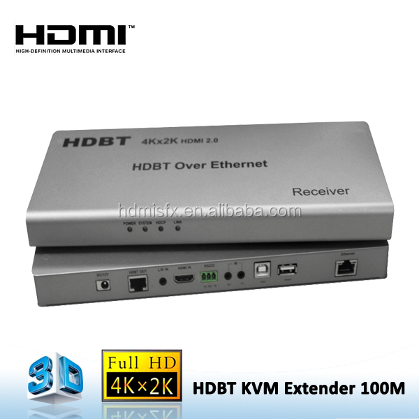 100m USB KVM HDMI 2.0 Extender HDBaseT with Ethernet