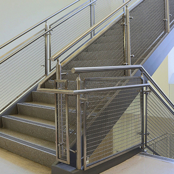 special design for stainless steel metal wire mesh stairs