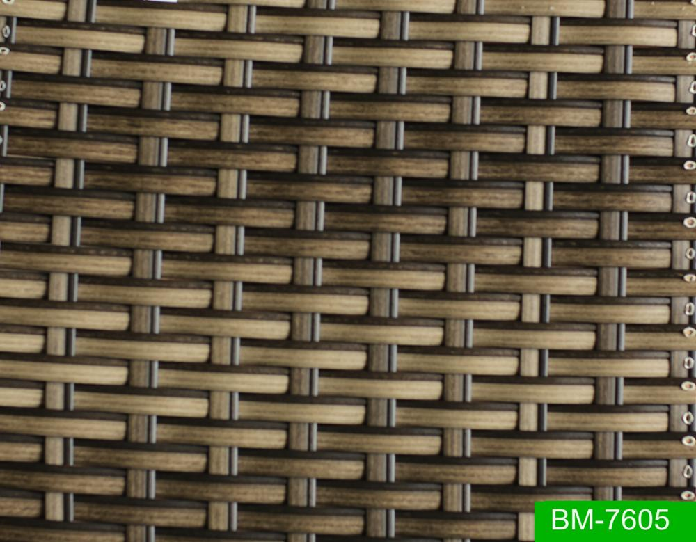 Mix Color Uv Resistant Synthetic Stripe Pe Rattan Wicker