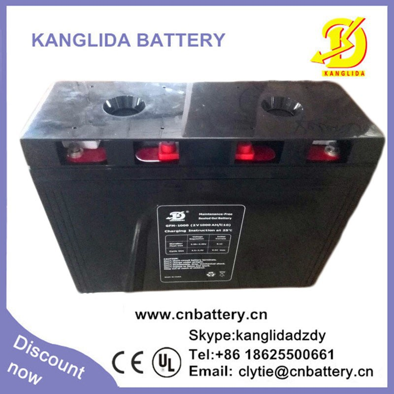 deep cycle 2v 1000ah agm vrla sealed type battery for photovoltaic system