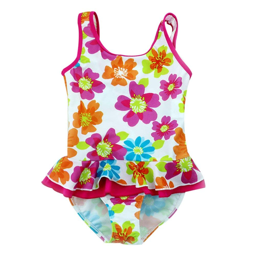 f66aa7ae0f5 Get Quotations · Toddler Baby Girl Swimsuit Kid One Piece Swimwear Bathing  Suit 2-8T