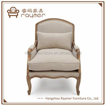 Antique Natuer White Linen Tufted Armchair Living Room French Arm Chair -  Buy French Arm Chair,Antique Wooden Arm Chairs,Tufed Living Room Chair ...