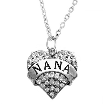 8c8fe30b5 Nana Charm Necklace Jewelry Grandma Grandmother Silver Chain Mothers Day  Gift