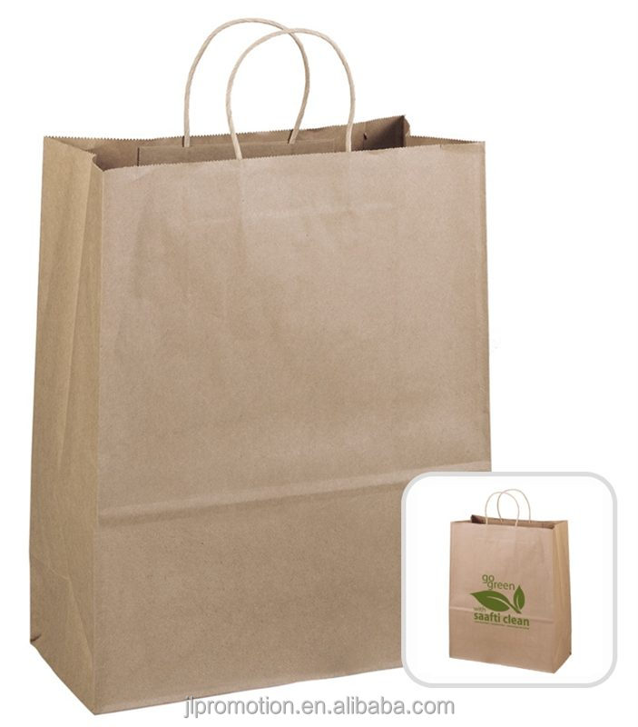 100% borse shopper riciclato carta kraft marrone tote e intrecciato carta kraft maniglie