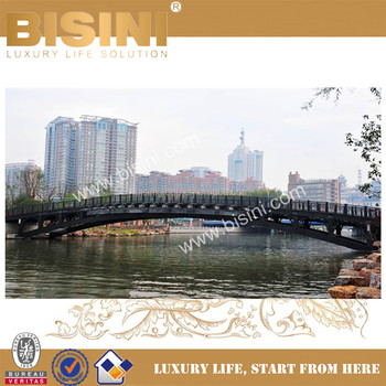 Prefab Steel Structure Landscape Bridge, Double-Hinge Type Arched Bridge,  Inland River Pedestrian Bridge(BF08-Y10023), View small steel bridges,