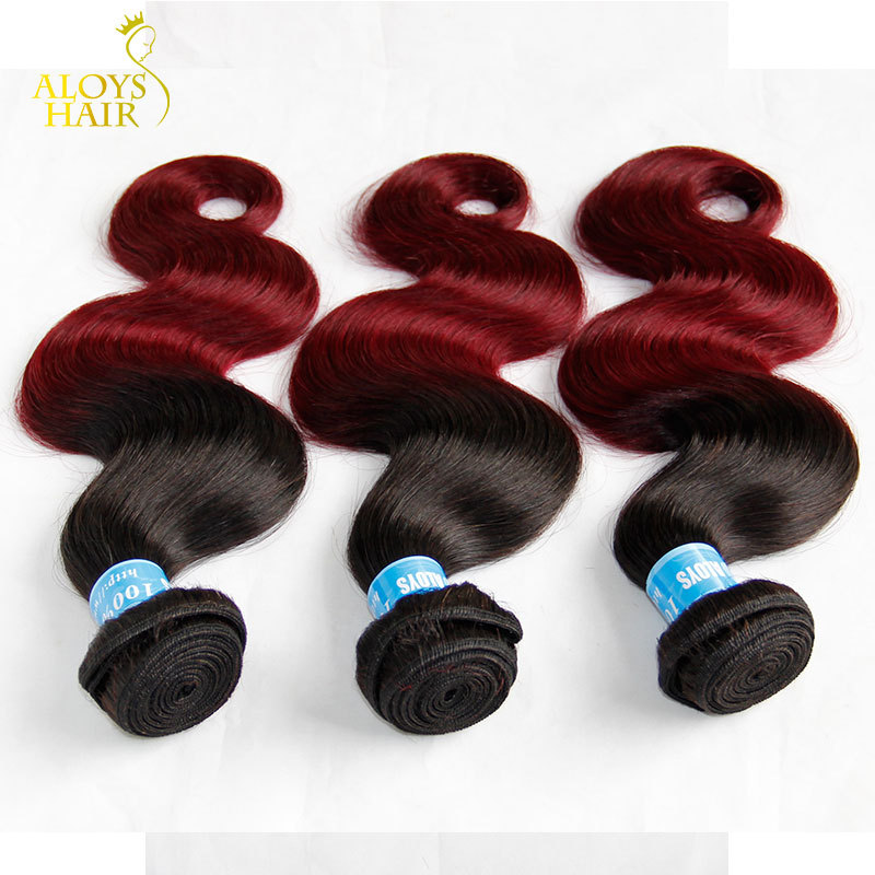 Buy Ombre Hair Extensions 6a Peruvian Virgin Hair Body Wave 3pcs Lot