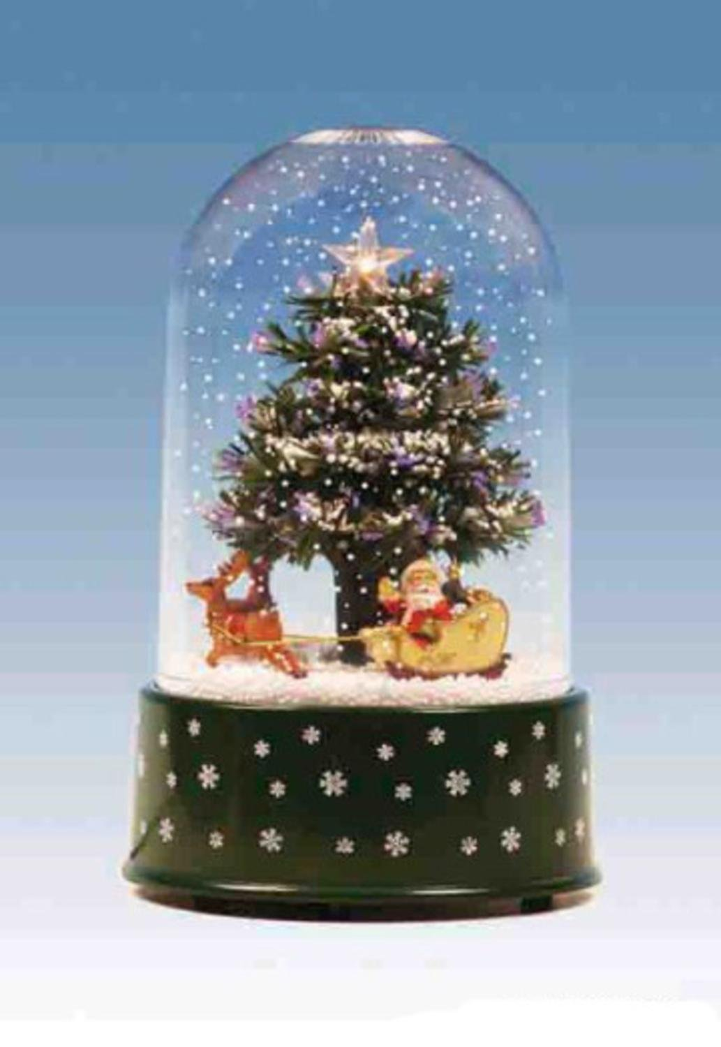 get quotations 1175 pre lit musical and animated christmas tree snow globe glitterdome - Musical Animated Christmas Decorations