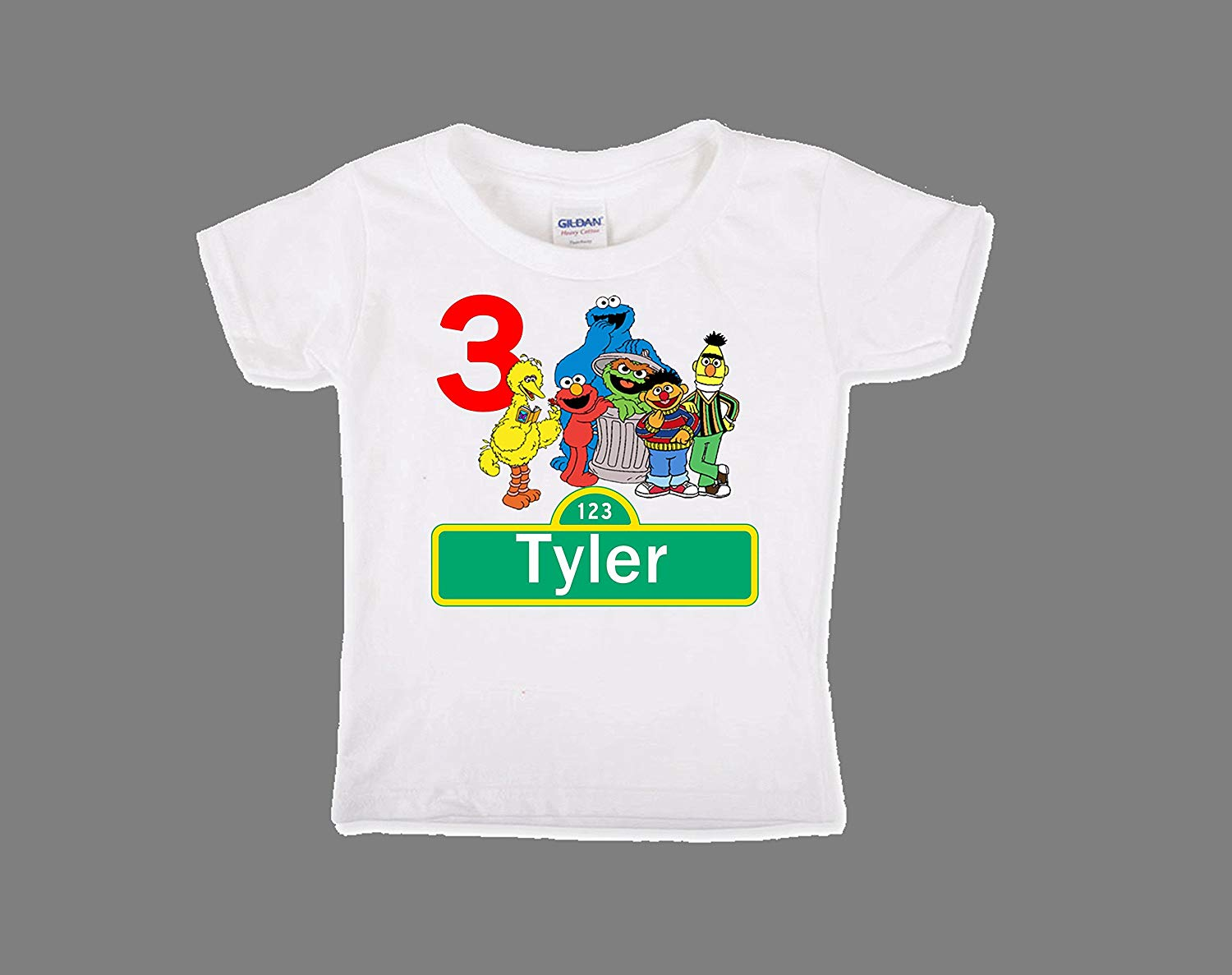 Get Quotations Sesame Street Birthday Shirt For Boys Personalized