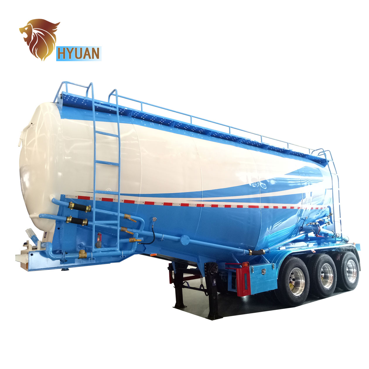 Hyuan Fly Ash Bulk Transport 3 Axle Cement Bulk Semi
