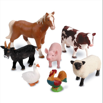 plastic farm animals collection