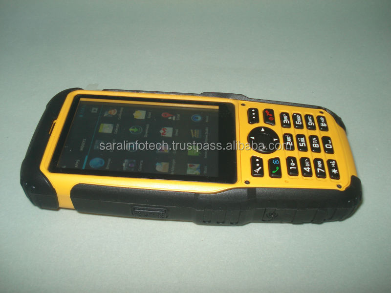 Android pda IP67 terminal with large touch screen and handheld pda barcode scanner S200