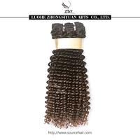 ZSY 100% brazilian hair weaves two tone ombre remy hair weaving