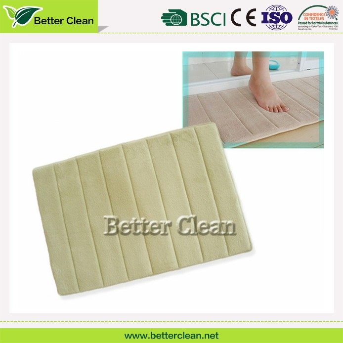 Stripe factory cheap price memory foam carpet bathroom mat